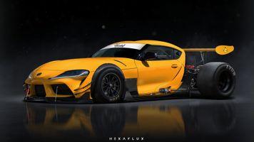 Фото бесплатно Тойота Супра, желтый, багги