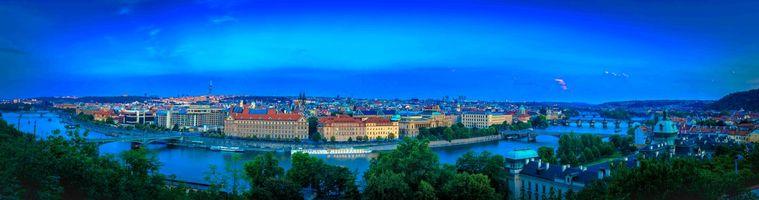 Фото бесплатно Карлов мост, Чехия, панорама