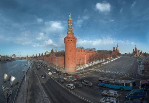 Download moscow, the moscow river wallpaper to your phone for free
