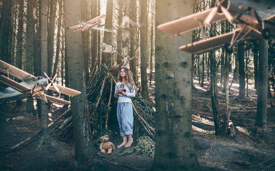 Photo free women, model, teddy bears