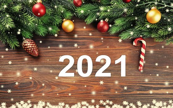 Photo free New Year 2021, postcard, greetings