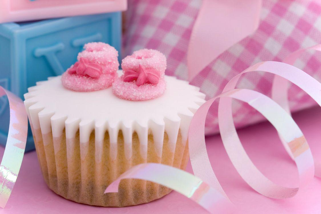 Фото бесплатно день рождения, кекс, лента - на рабочий стол