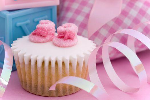 Photo free birthday, cupcake, ribbon