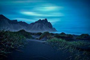 Бесплатные фото Исландия,море,закат,горы,берег,пейзаж