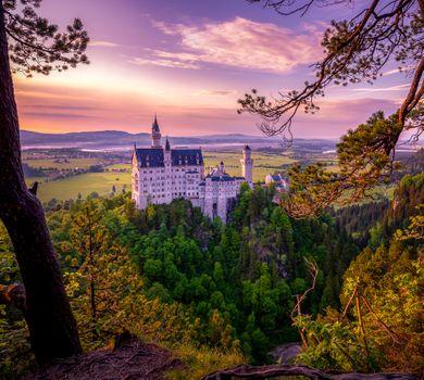 Фото бесплатно пейзаж, Germany, Hohenschwangau