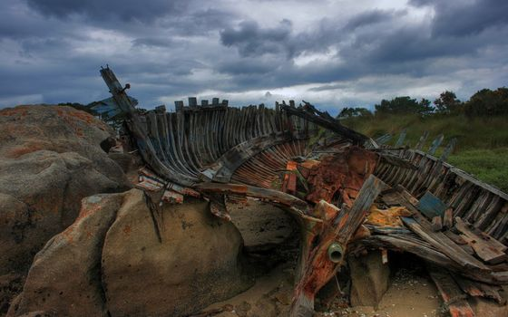 Photo free remains, boat, structure