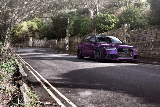 Photo free Audi, rs6, violet