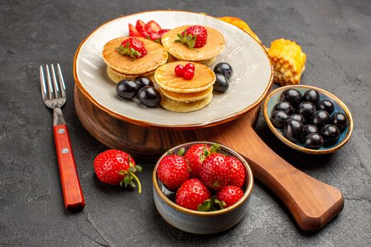 Photo free food, hotcake, strawberry