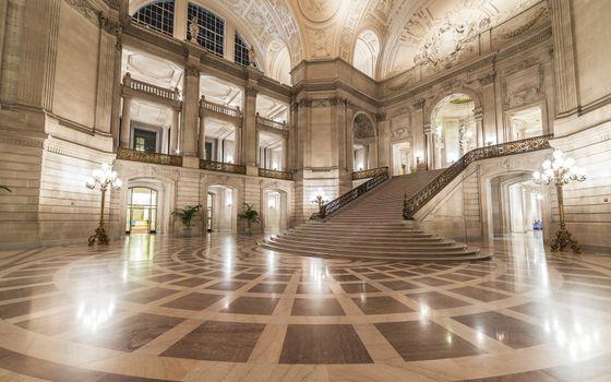 Фото бесплатно внутри здания, лестницы, архитектура