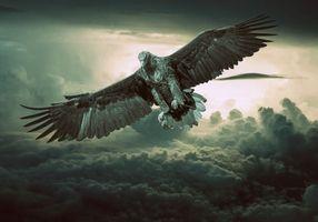 Фото бесплатно облака, закат, искусство