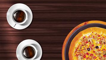 Бесплатные фото кофе,пицца,глаз,стол