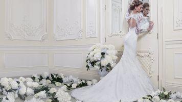 Фото бесплатно платье, кольцо, девушка