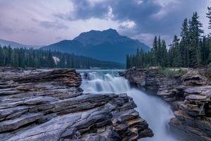 Фото бесплатно Водопады Атабаска, Альберта, Национальный парк Джаспер