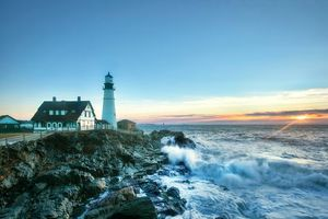 Photo free Cape Elizabeth, rocks, The Bay of Maine