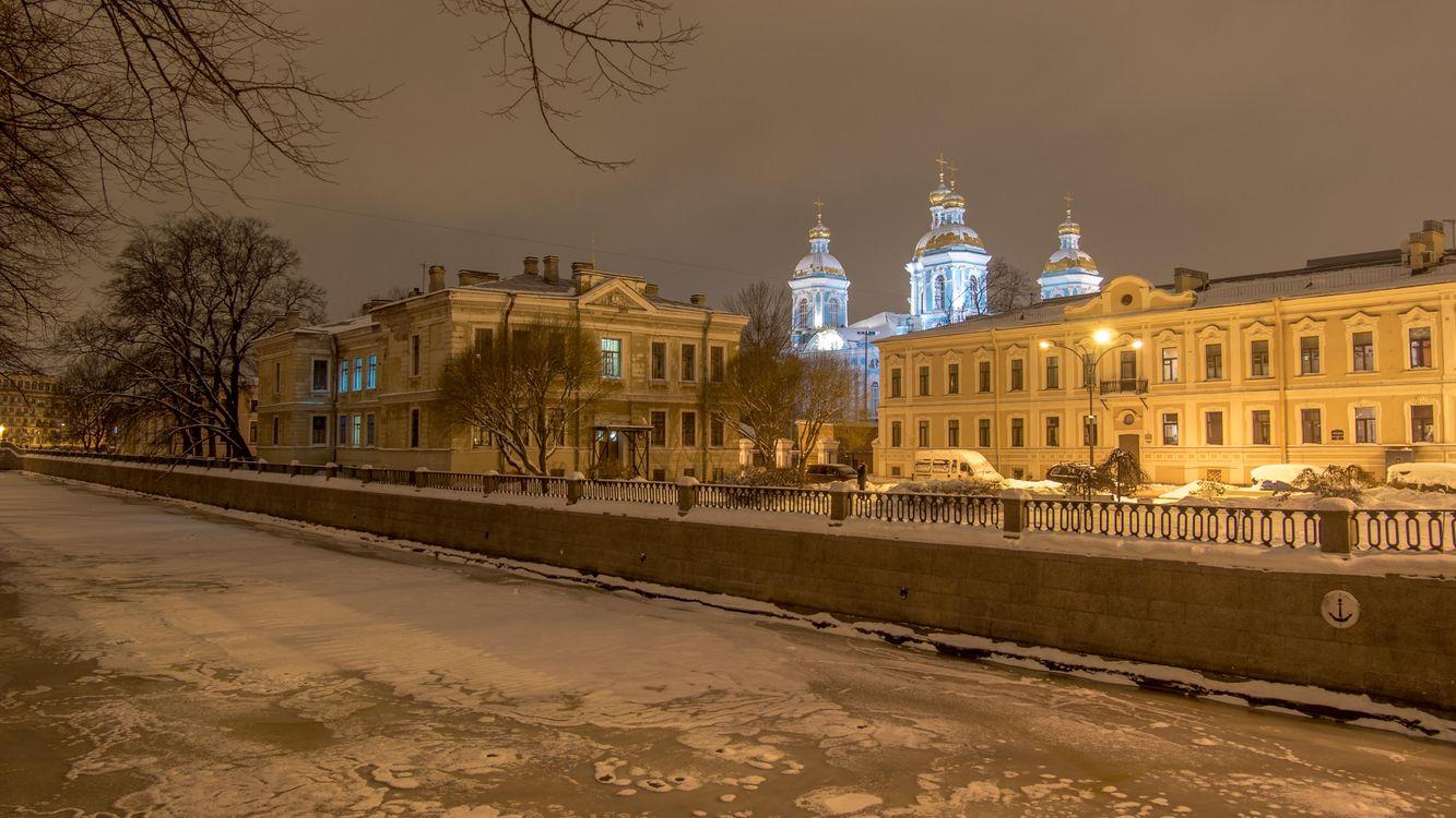 Картинка St Nicholas Naval Cathedral, St Petersburg на рабочий стол. Скачать фото обои город