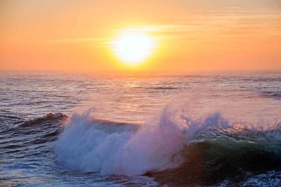 Фото бесплатно море, закат, пейзаж, пейзажи