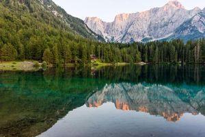 Бесплатные фото Фузине,Тарвизио,Фриули,Италия,Альпы озеро,горы,хижина