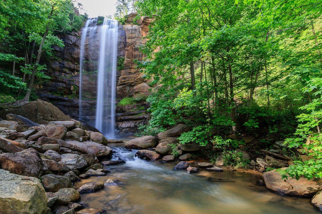 Обои водопад, скалы, камни картинки на телефон