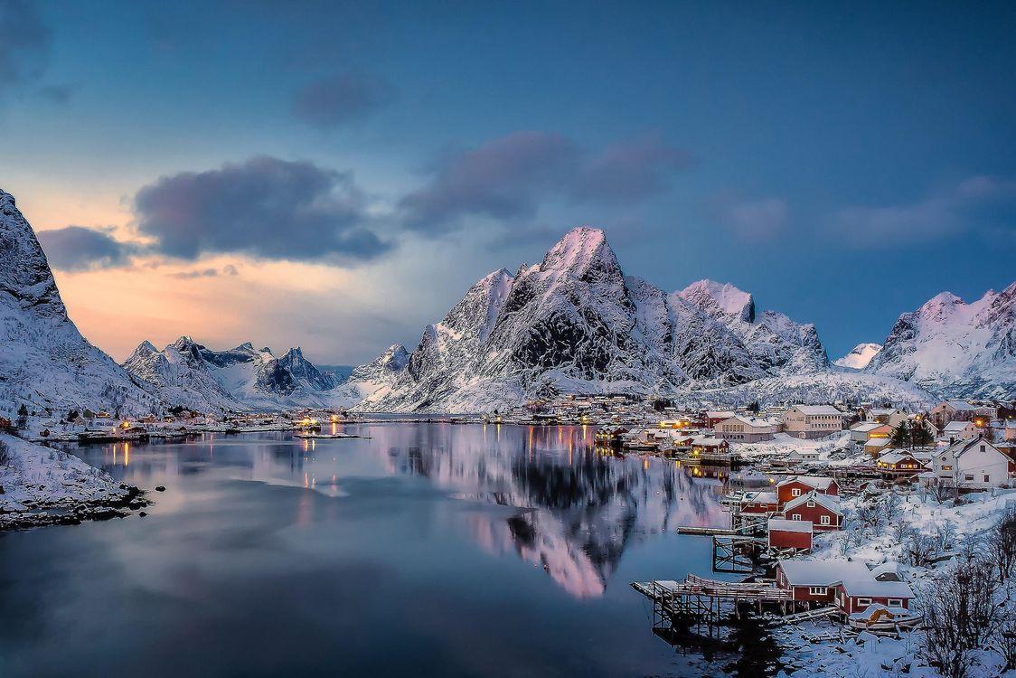 Фото бесплатно Lofoten Islands, Norway, Лофотенские острова - на рабочий стол