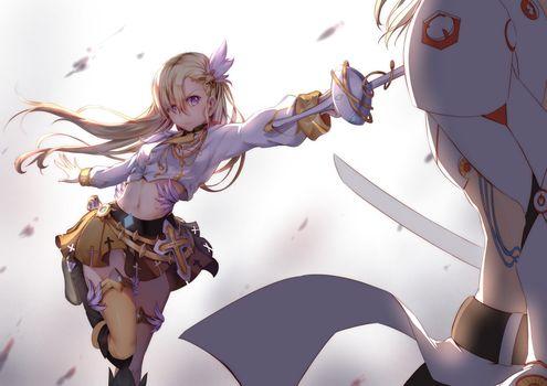 Заставки аниме девушка, аниме, меч