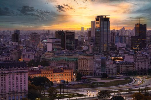 Photo free city, evening, argentina