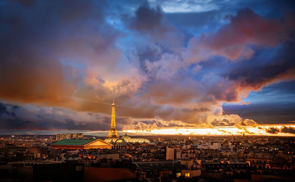 Фото бесплатно Париж, закат, мир - на рабочий стол