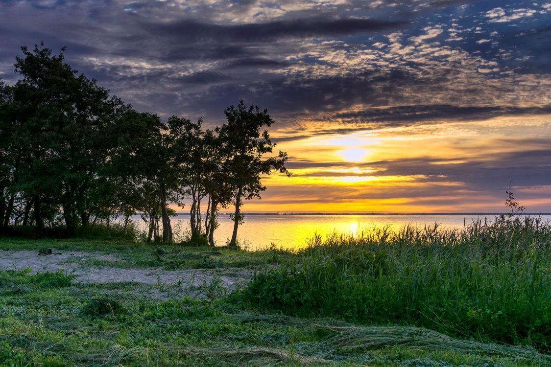 Фото бесплатно пасмурное небо, закат, природа - на рабочий стол