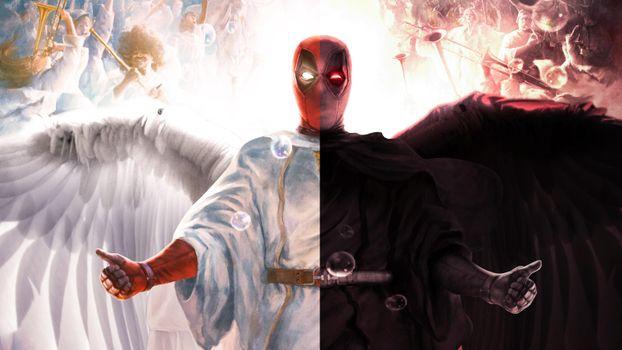 Фото бесплатно deadpool, супергерои, дьявол