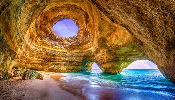 Фото бесплатно пещера, побережье, море