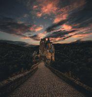Бесплатные фото Виршем,Германия,замок,тропа,вечер,небо,wierschem