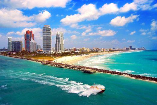 Фото бесплатно майами, город, море