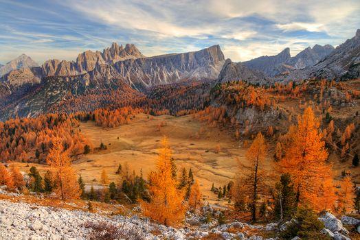 Фото бесплатно горы, осень, поле