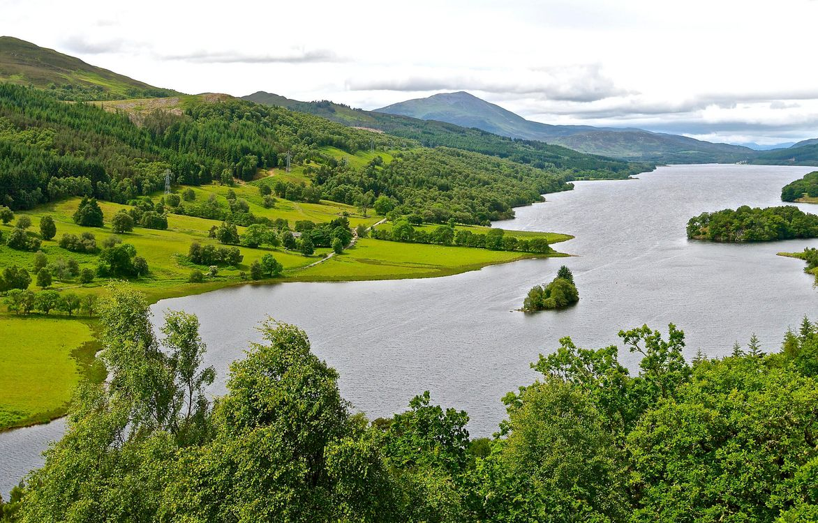 Фото бесплатно река, горы, холмы, деревья, пейзаж - на рабочий стол