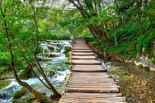 Фото бесплатно Plitvice Lakes National Park, Croatia, Национальный Парк Плитвицкие Озера