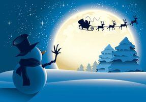 Фото бесплатно снеговик, Новый год с стиль, Рождество