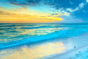Бесплатные фото Seaside,Florida,море берег,волны,пляж,закат,небо