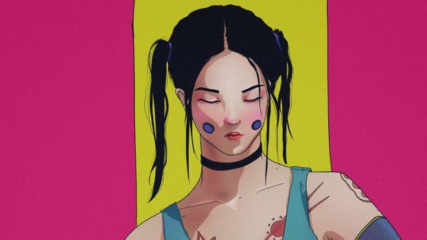 Заставки художник, произведение искусства, азиатка