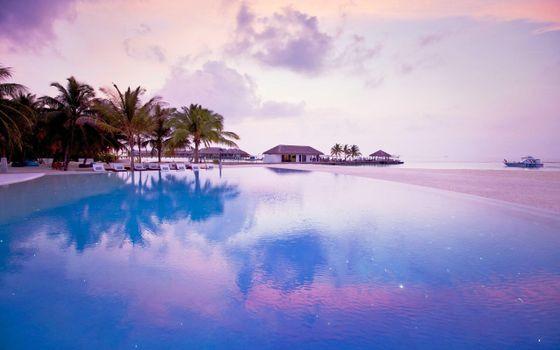 Бесплатные фото Мальдивы,тропики,море,остров,пляж,курорт