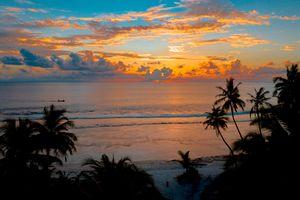 Фото бесплатно тропический, закат, спокойный