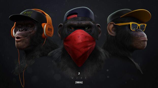 Фото бесплатно обезьяны, грабители, зверь