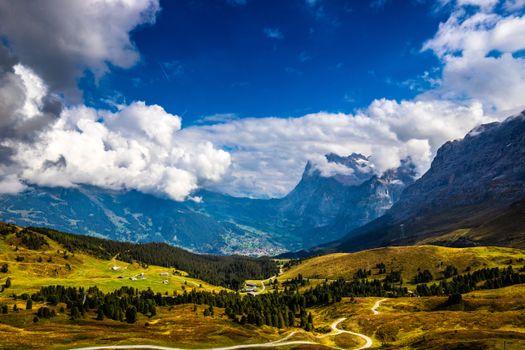 Photo free Switzerland, valley, Switzerland Alps