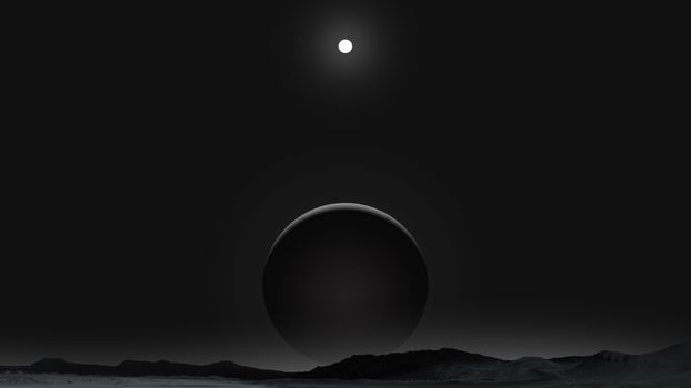 Photo free planet, darkness, moon