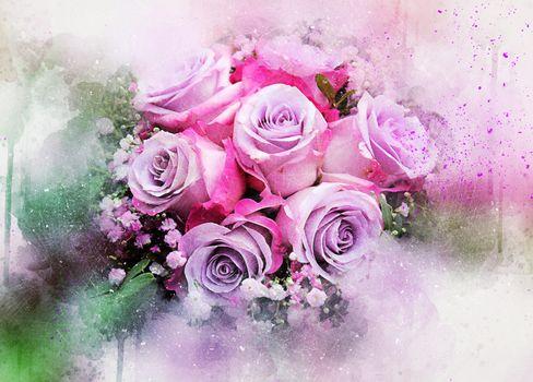 Wallpaper roses on Desk · free photo