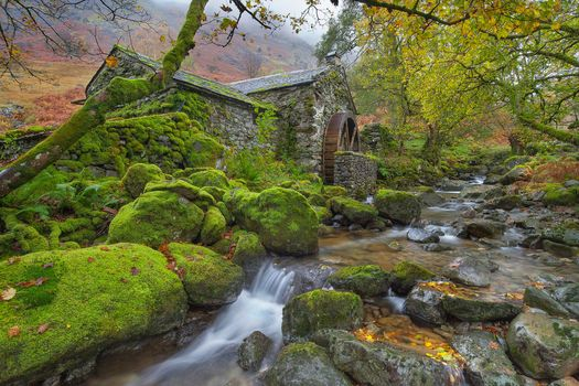 Photo free Old Mill Cottage on Cumbstone Gill, Borrowdale, Cumbria
