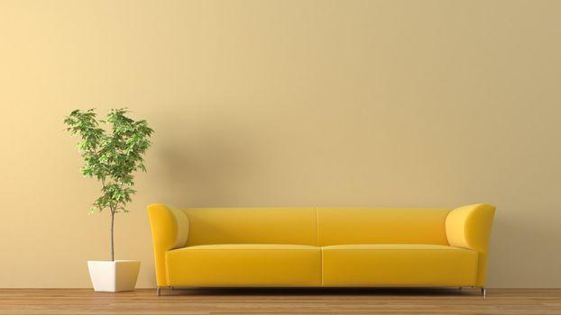 Photo free beautiful yellow sofa, design, home