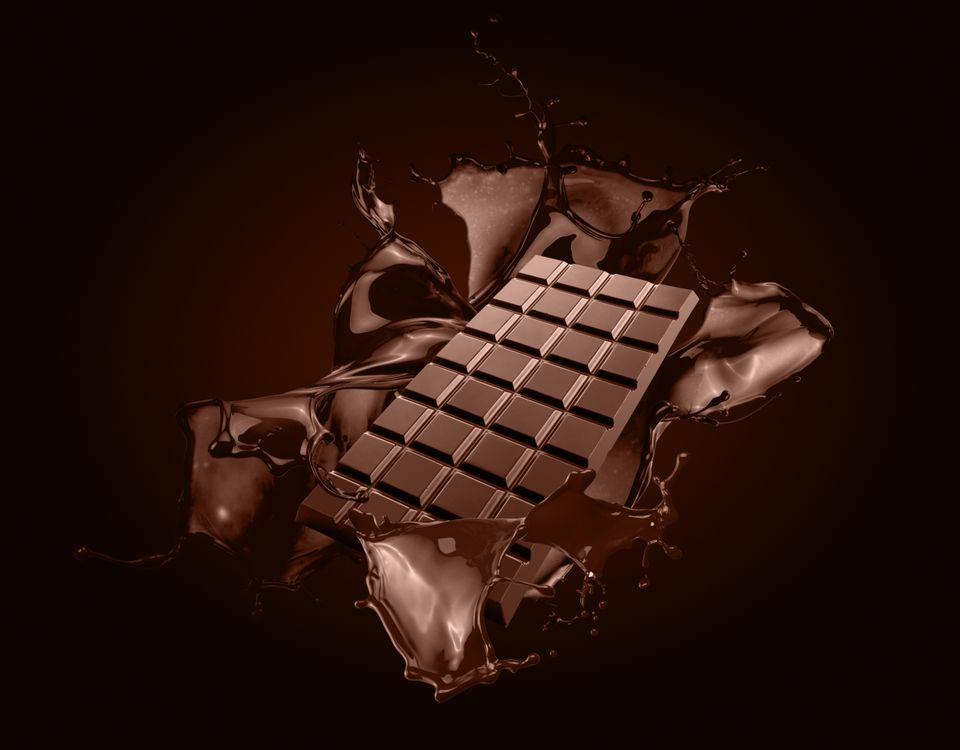 Фото бесплатно брызги, шоколад, плитка шоколада - на рабочий стол