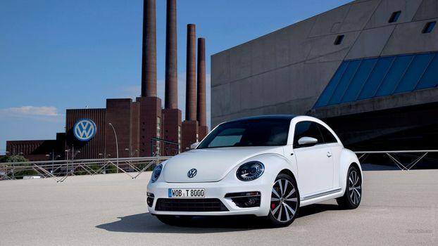 Photo free volkswagen new beetle, volkswagen beetle, subcompact car