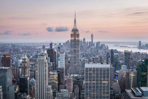 Бесплатные фото Нью, Йорк, США, небоскребы, вид сверху, new york, usa