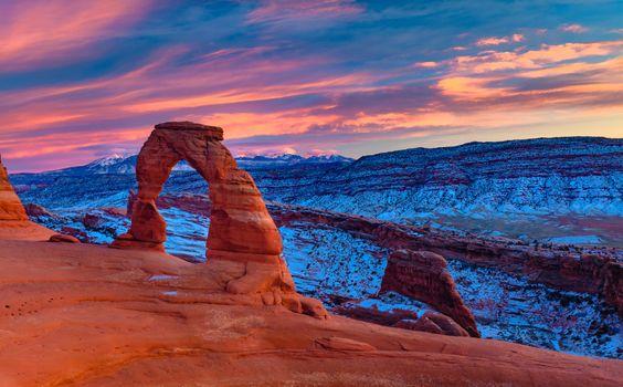 Photo free arch, Utah, sky