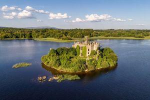 Заставки Сказочный замок Лох-Ки, Ирландия, пейзаж